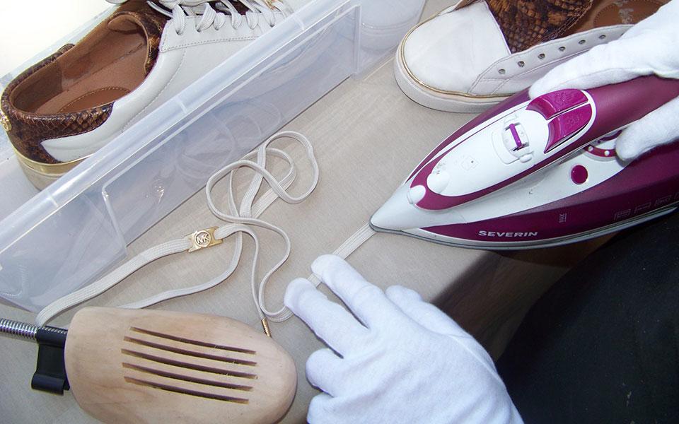 Lederschuhpflege